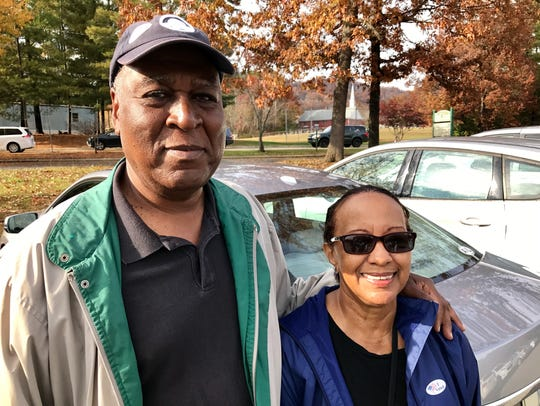 """Melvin and Naomi Hines of Haw Creek both voted """"no"""""""