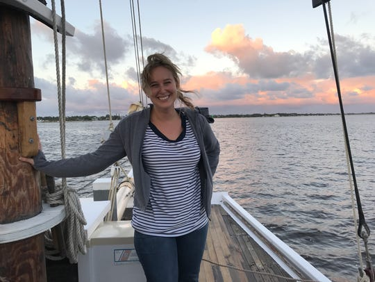 Laurie K. Blandford went sailing for the first time
