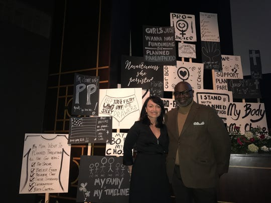 Jenny Black and Dr. Willie Parker spoke at the Asheville Planned Parenthood event Standing Strong at the Diana Wortham Theatre on Tuesday, Nov. 7
