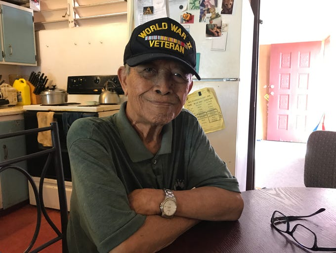 Lorenzo Batangan, a Filipino World War II veteran,