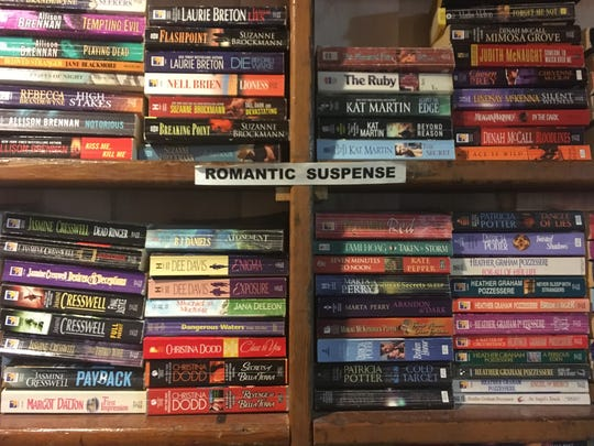 Romantic suspense is Wynne Beck's favorite section in the shop. Beck has owned the shop since 1998.