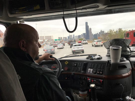 For the past nine seasons, Glenn Edgett has been driving the Michigan State football equipment truck to all of the Spartans' road games across the country. His wife, Jody Edgett, typically serves as his co-pilot for long trips, including this one to the northern suburbs of Chicago where the Spartans will play the Northwestern Wildcats.