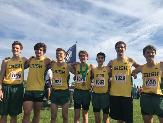 Members of the York Catholic boys' cross country team