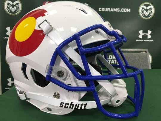"The ""state-pride"" helmets the CSU football team will"