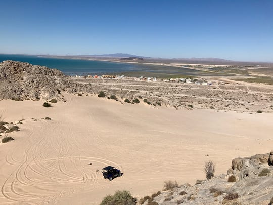 There are many places to rent ATVs, and Rick Marino rented one to explore Cholla Bay to the north.