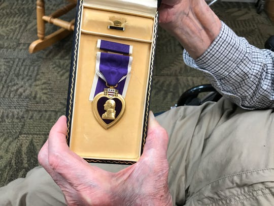Ormand Williams received the Purple Heart for injuries he sustained in Italy during World War II.