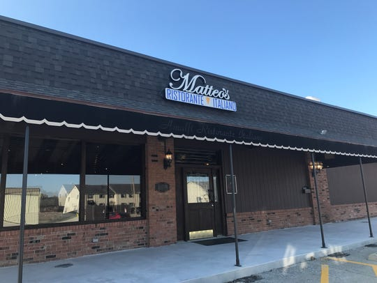 Matteo's Italian restaurant opens Nov. 10, 2017, in
