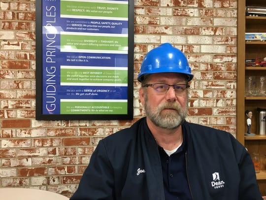 Joe Leedom, plant superintendent for Dean Foods in