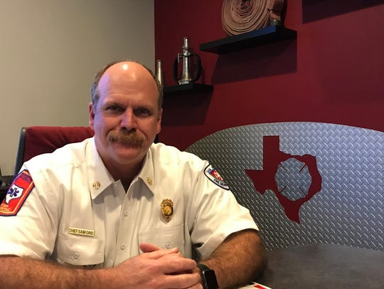 Todd Sanford, assistant chief of operations, in his