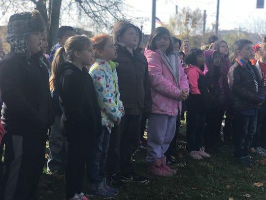 The Ashland City Elementary School choir performs at