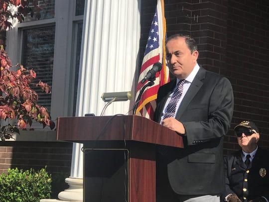 County Mayor Kerry McCarver speaks at the annual Veterans