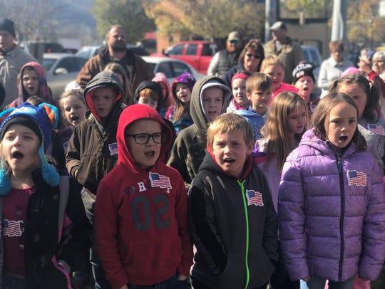 The West Cheatham Elementary School choir performs
