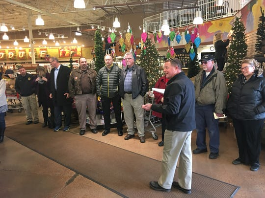 Brant Bergeron hosts a kickoff event for the Salvation Army Red Kettle Campaign at Trig's in Stevens Point on Nov. 10, 2017.