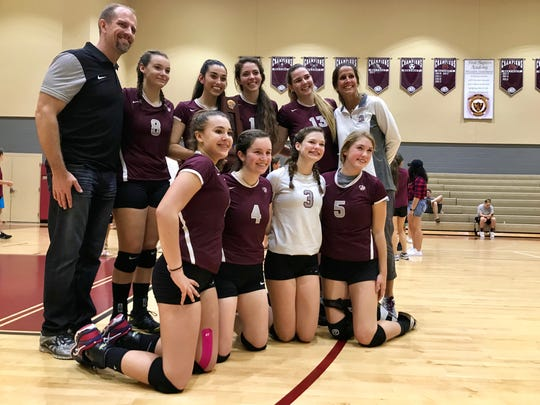 The First Baptist Academy volleyball team punched it's ticket to the 3A state championship with a 3-1 win over Jupiter Christian on Saturday, Nov. 11, 2017.