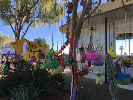 Even the trees were decorated for the Grand Avenue