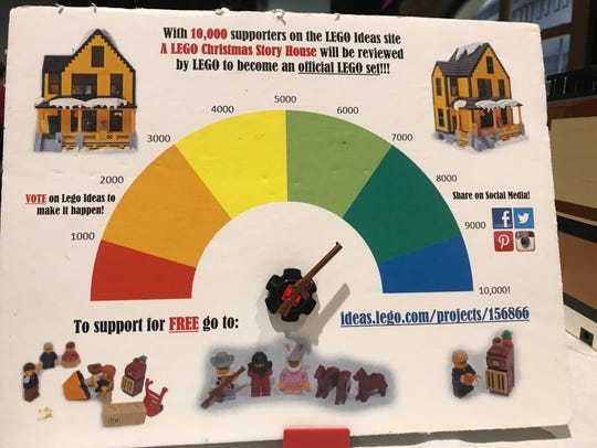 Ralphie's house, built out of Legos, is about 3,000