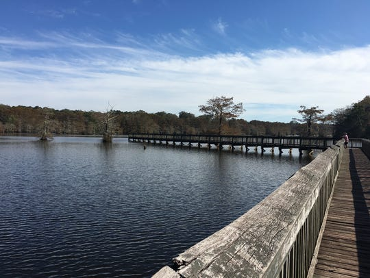 Chicot State Park in Ville Platte boasts a 400-foot