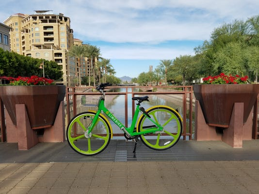 LimeBike, a docketless bike-sharing program, will Launch in Scottsdale in November