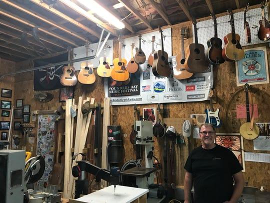 Dan'l Brazinksi in his workshop.