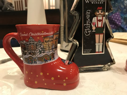 Get mulled wine in a holiday cup to take home at Carmel's