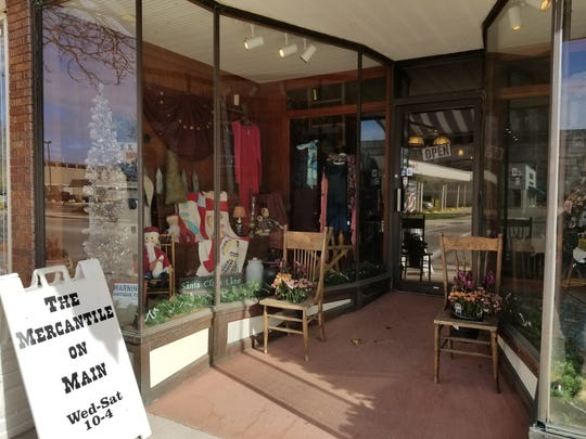 Mercantile on Main's window displays feature vintage