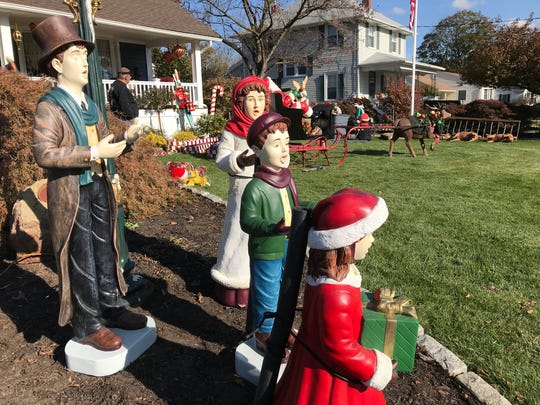 Wanaque's Bill and Kathy Saraceni began building up their outdoor holiday display Nov. 15, 2017 and expect to have it ready by Thanksgiving. The couple is known around the borough for their ambitious Christmas  display. This year they are working together with police on a toy drive.
