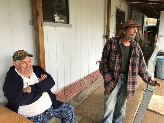 Charles Bruehl, left, and John Wythe live across the