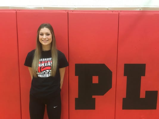 Pleasant volleyball player Laina Sansotta