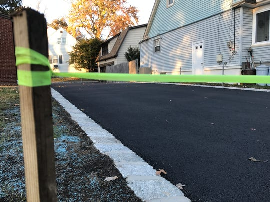 A freshly paved driveway on Cresskill Avenue in Dumont.