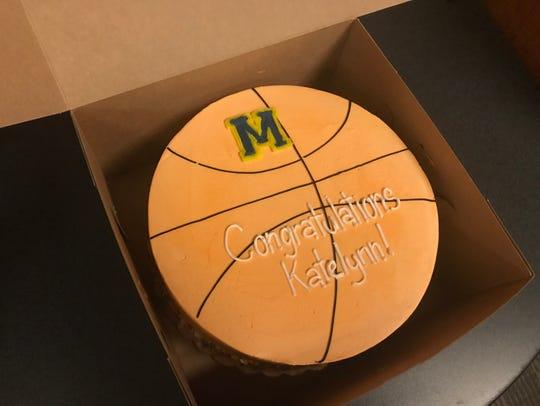 Katelynn Flaherty's Michigan teammate's presented her