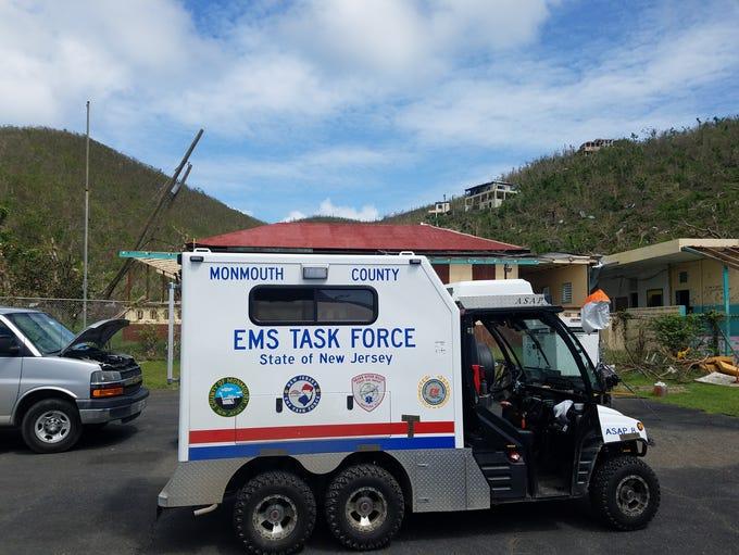 A NJ EMS Task Force all-terrain vehicle in the U.S.