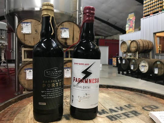 Stillmank Brewing will be releasing a new blend of its award-winning barrel-aged porter (left) and Paramnesia, a yearlong barrel-aged stout, on Black Friday as part of its Kegs & Eggs event.
