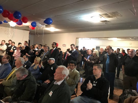 John McCann announced his candidacy for GOP nomination for Congressional District 5 seat amongs scores of supporters on Saturday. The event was held at the Paramus VFW hall.