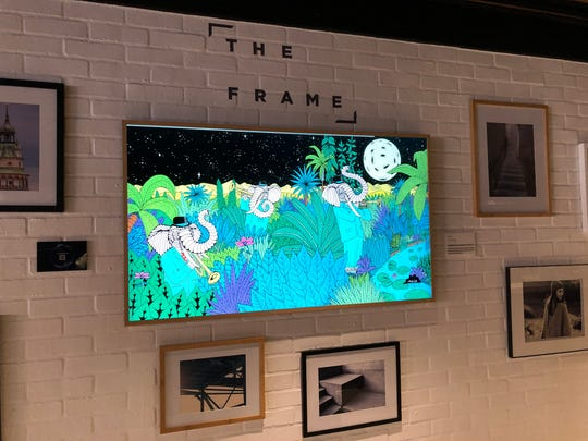 Samsung's Frame TV can display artwork when you're