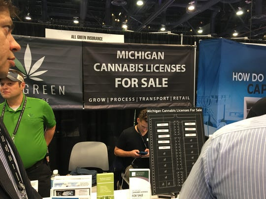 This is a photo of  booth in Las Vegas for the Cannabis