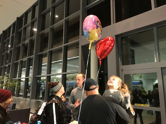Well-wishers gather at the Greater Rochester International