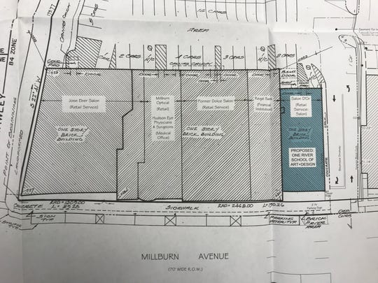 Creskill-based developer One River Millburn LLC has proposed a school of art and design for this location seen in plans for 290 Millburn Ave. in Millburn.