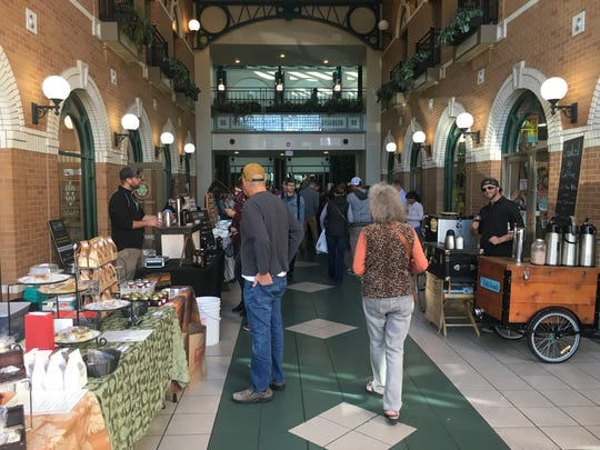 The entrance into the Fort Collins Winter Farmers' Market.