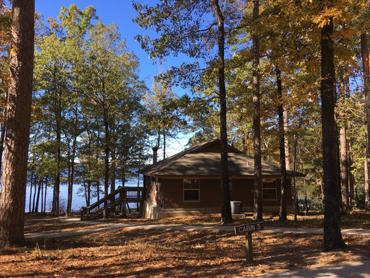 You can stay on Caney Creek Lake in cabins at Jimmie Davis State Park in Chatham.