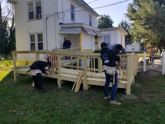 Members of ASPIRA YouthBuild and Cumberland County
