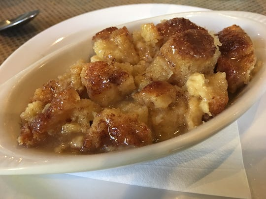 Bread pudding at Joes'.