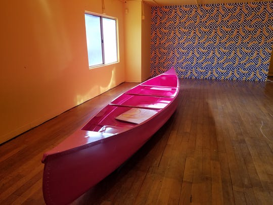 "The ""Banana Boat Room"" features a larger-than-life"