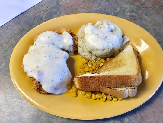The chicken fried chicken at the Star Diner in Burkburnett