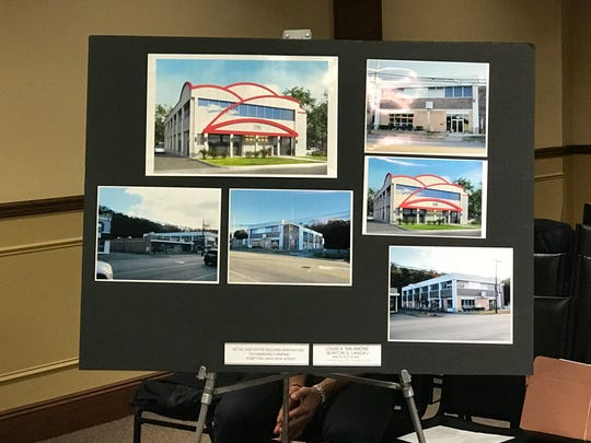 A developer plans to convert the former billiards hall on Hamburg Turnpike in Pompton Lakes into a pharmacy and doctors' offices. Architectural renderings were presented to the Planning Board last Tuesday.