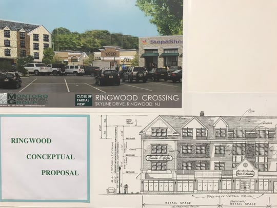 Conceptual plans for a mixed-use development project