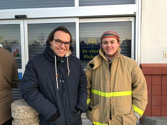 Brothers Justin Carmona, 18 and Dylan Carmona, 15 await