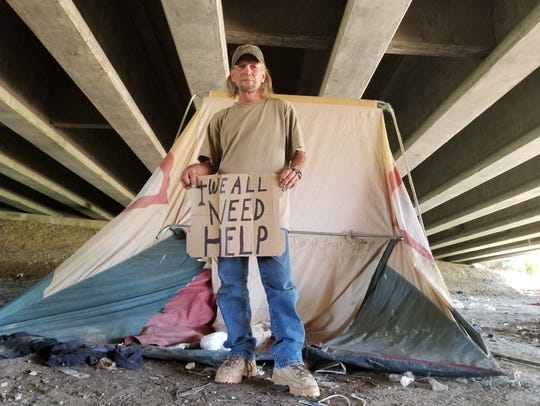 Jack Jarvey is a homeless veteran who lives underneath