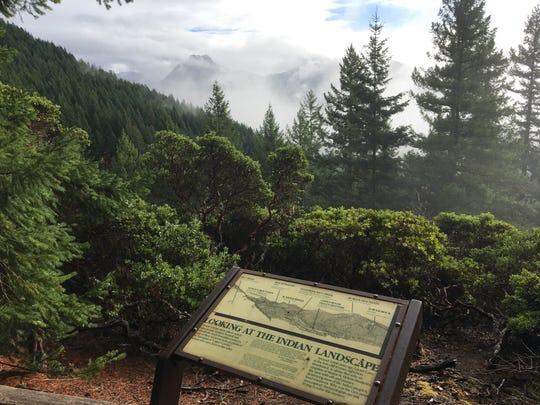 Viewpoint at Layser Cave in southern Washington.