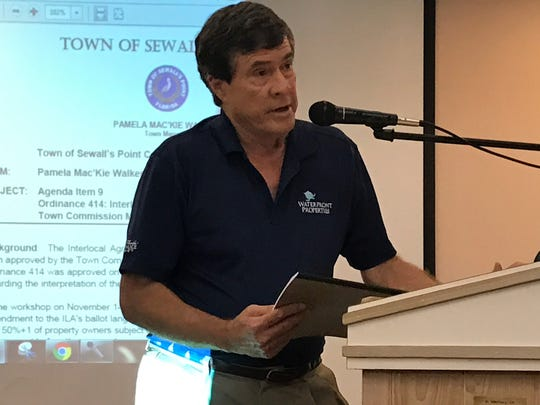 Sewall's Point resident Mark Florman voices his concerns
