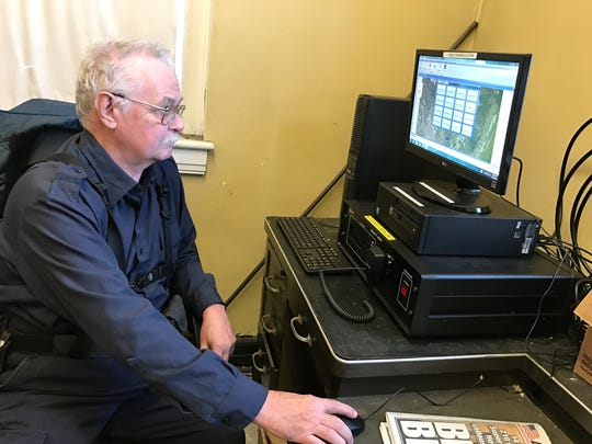 Larry Robertson, Teaneck's emergency management coordinator, operates the audible alert system from fire headquarters on Teaneck Road.
